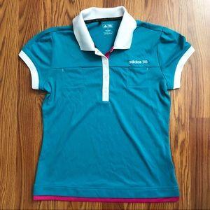 Adidas Golf Jessica Korda Button Polo Teal Small